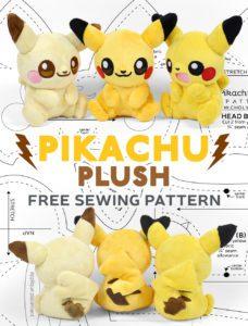 Pikachu Plush FREE Sewing Pattern