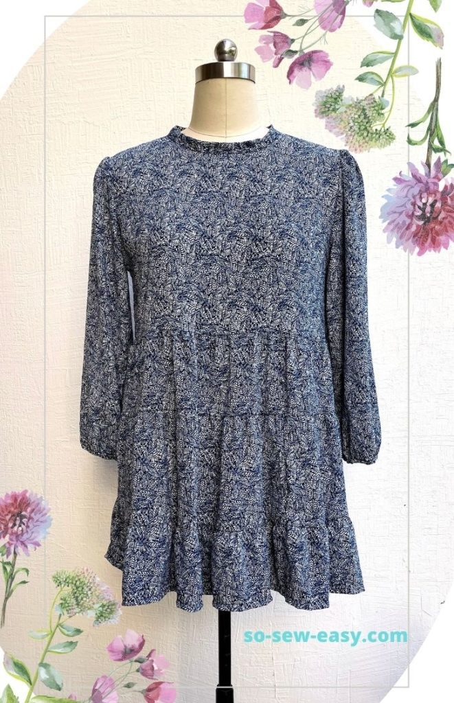 Tiered Spring Mini Dress FREE Sewing Pattern