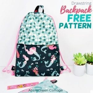 Drawstring Backpack FREE Sewing Tutorial