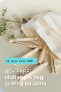 FREE Clothespin Bag Sewing Patterns