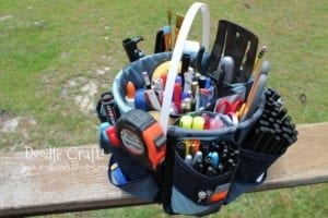 Fabric Bucket Bag Organizer FREE Sewing Tutorial