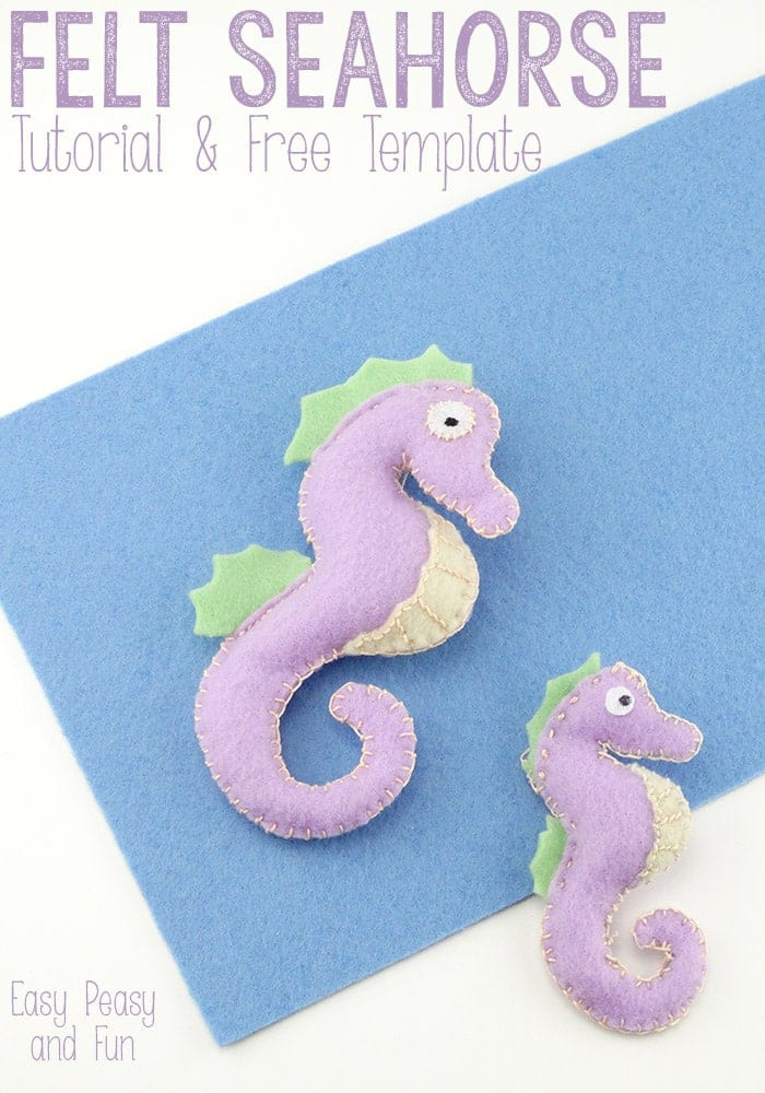 Felt Seahorse FREE Sewing Tutorial