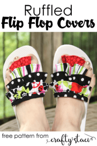 Flip-Flop Covers with Ruffles FREE Sewing Tutorial