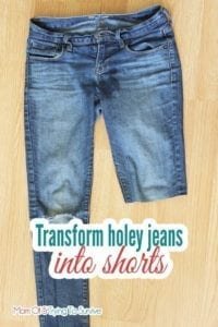 Jeans into Shorts FREE Sewing Tutorial