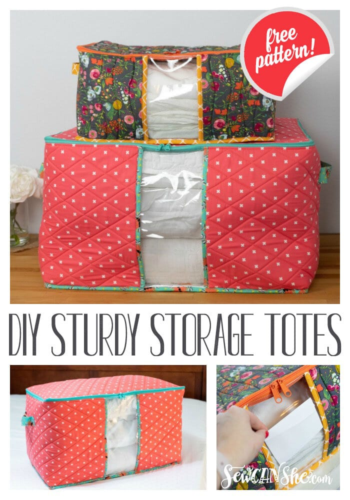 Storage Totes FREE Sewing Pattern