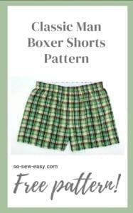 Classic Man Boxer Shorts FREE Sewing Pattern