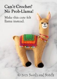 DIY Felt Llama Tutorial