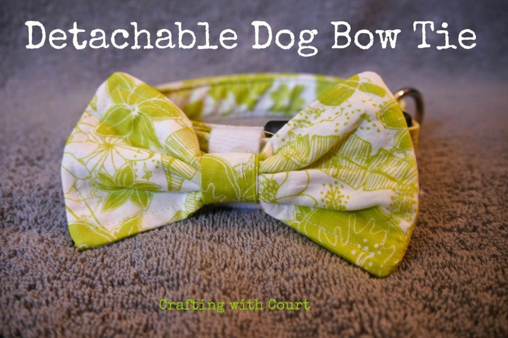 Dog Bow Tie FREE Sewing Tutorial