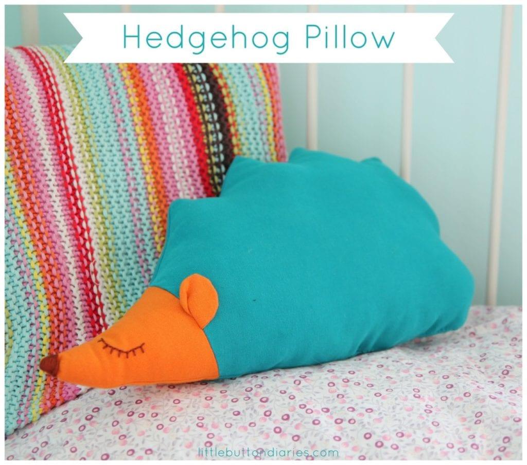 Hedgehog Pillow FREE Sewing Pattern