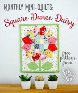 Square Dance Daisy Mini Quilt Pattern