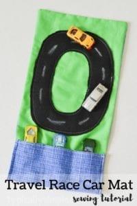 Travel Race Car Mat FREE Sewing Tutorial