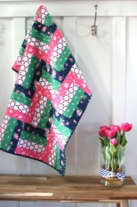Quick Rail-Fence Baby Quilt FREE Tutorial
