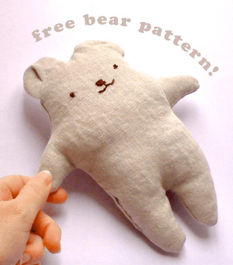 Bear Friend Plush Doll FREE Sewing Pattern