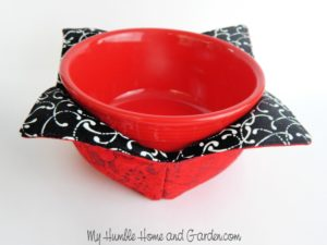 Microwave bowl cozy free sewing tutorial