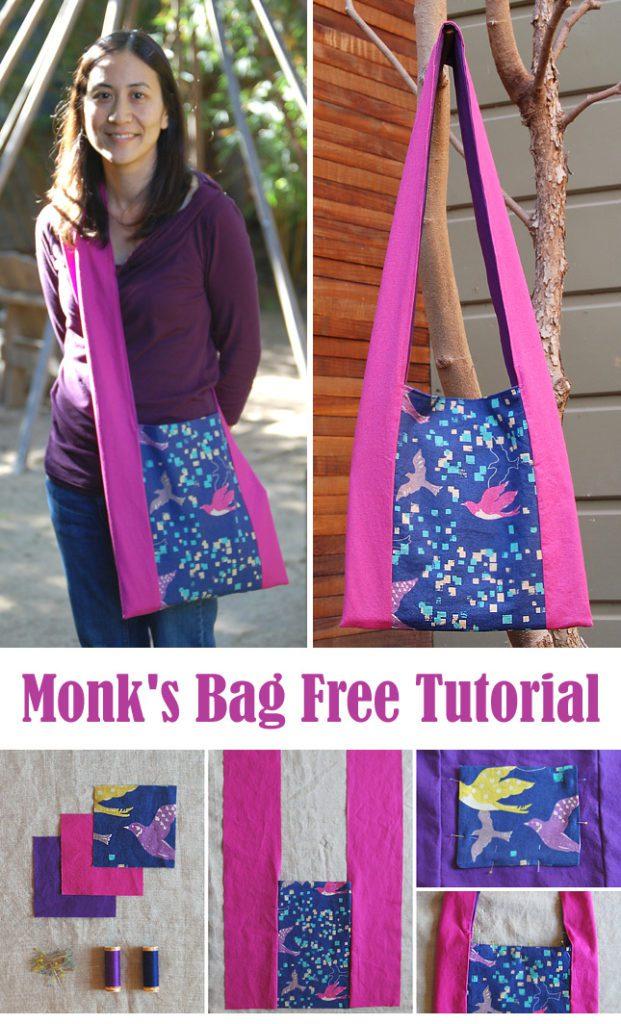 Monks Bag FREE Sewing Tutorial