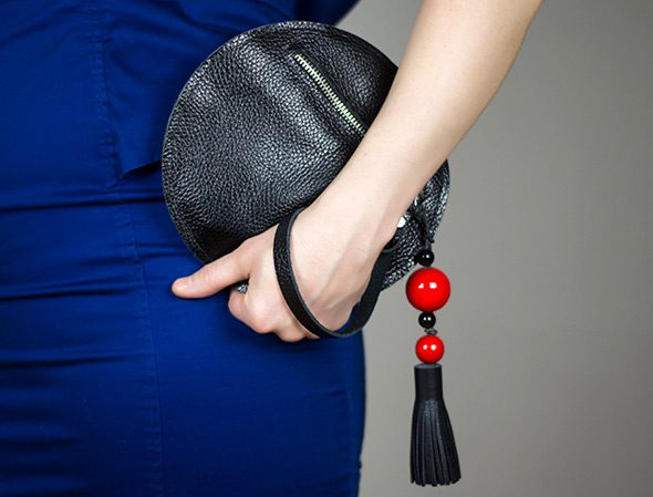 Round Clutch with Tassel FREE Sewing Tutorial