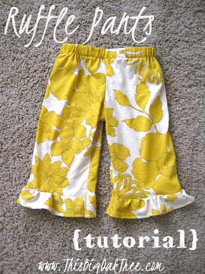 Ruffle Pants FREE Sewing Tutorial