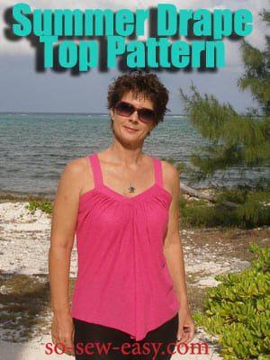 Summer Drape Top FREE Sewing Pattern