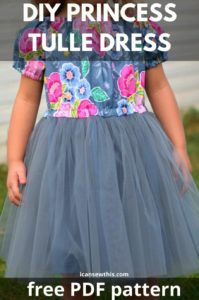 Girls Tulle Dress FREE Sewing Pattern