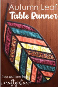 Autumn Leaf Quilted Table Runner FREE Tutorial