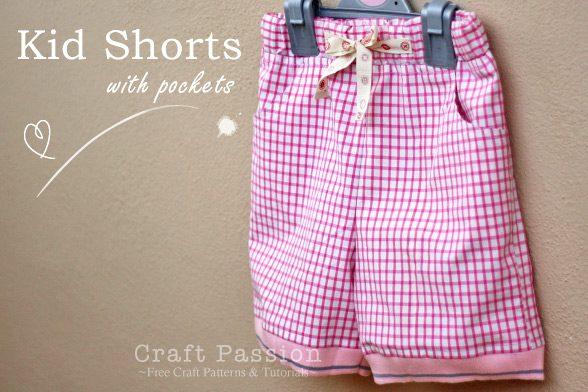 Basic Kid Shorts with Pocket FREE Sewing Pattern