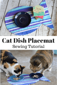 Cat Dish Placemat FREE Sewing Tutorial