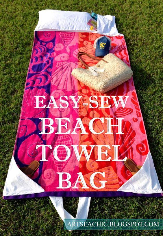 Beach Towel Bag FREE Tutorial