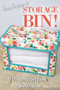 Fabric Storage Bin FREE Sewing Pattern