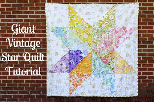 Giant Vintage Star Quilt FREE Tutorial