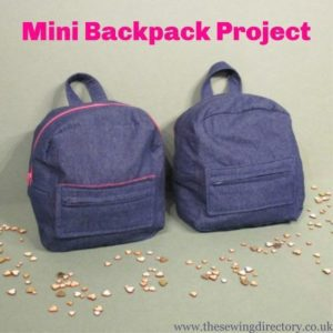 Mini Backpack Project FREE Pattern