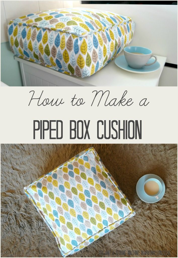 Piped Box Cushion FREE Sewing Tutorial