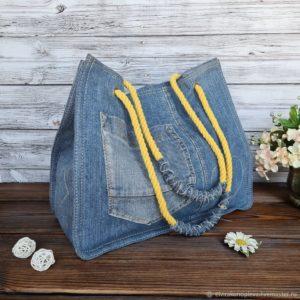 Recycled Denim Bag FREE Sewing Tutorial