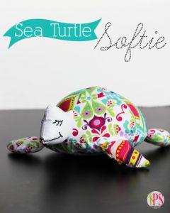 Sea Turtle Softie FREE Sewing Pattern