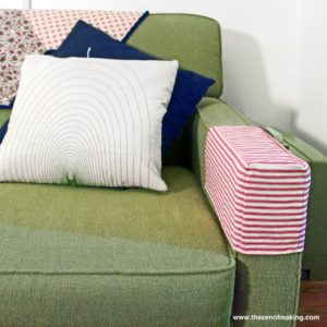 Simple Fabric Armrest Covers FREE Sewing Tutorial