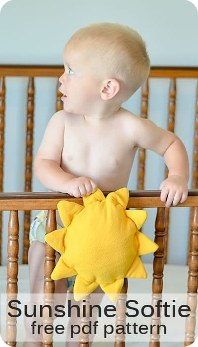 Sunshine Softie  Baby Toy FREE Sewing Tutorial