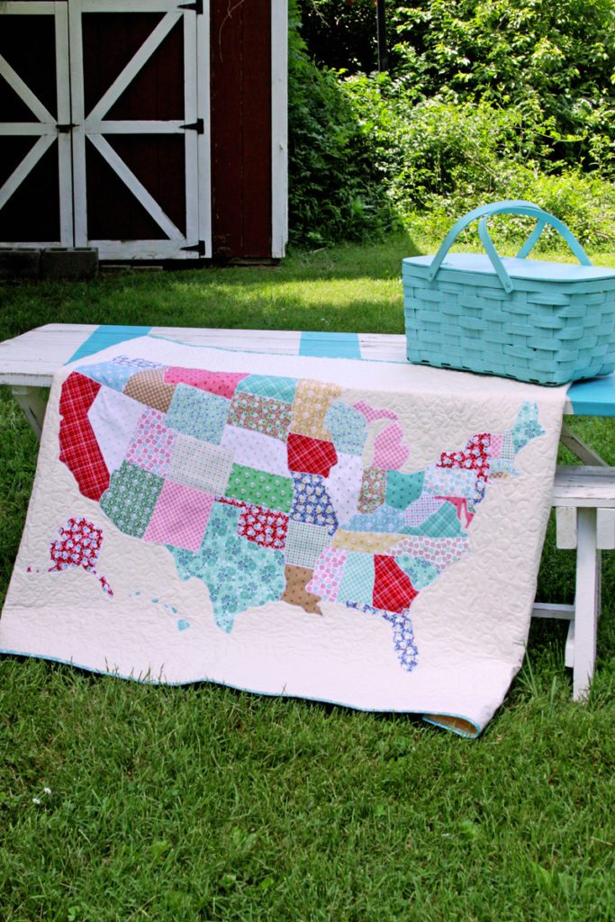 US Map Quilt FREE Tutorial