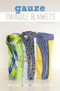 Gauze Swaddle Blankets for Baby FREE Sewing Tutorial