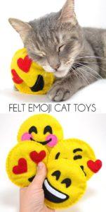 Felt Emoji Cat Toys FREE Sewing Pattern