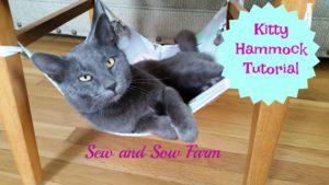 Reversible Kitty Hammock FREE Tutorial