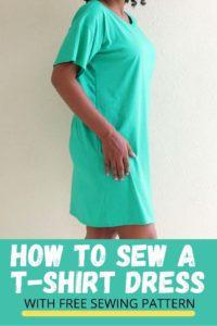 T-Shirt Dress Free Sewing Pattern