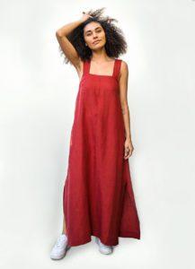 Wide-Strap Maxi Dress FREE Sewing Pattern